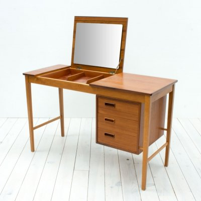 Danish Teak & Oak Dressing Table/Desk by Svend Åge Madsen, 1960s
