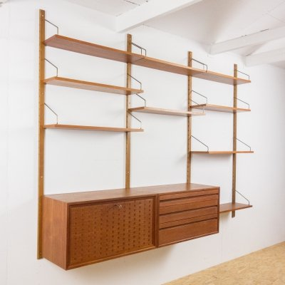 Wall unit in teak by Poul Cadovius