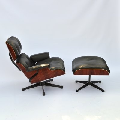Eames Lounge Chair & Ottoman ES670 + ES671 by Vitra, 1980's