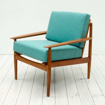 Danish Teak Armchair by Arne Vodder for Glostrup, 1960s
