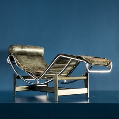 Very early (no. 150) LC4 by Le Corbusier & Charlotte Perriand for Cassina, 1960s