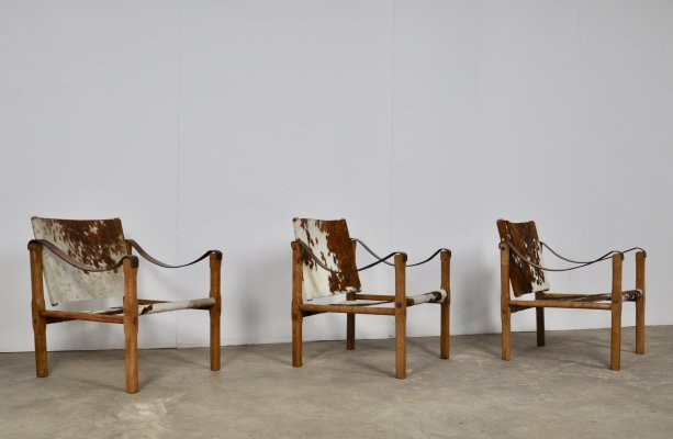 Set of 3 French armchairs, 1970s