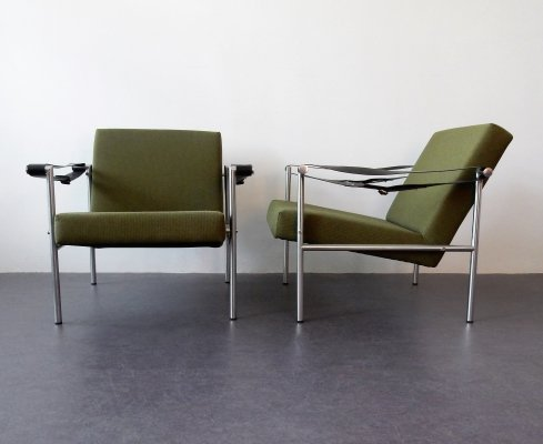 Set of 2 'sz38/sz08' easy chairs by Martin Visser for 't Spectrum, 1960's
