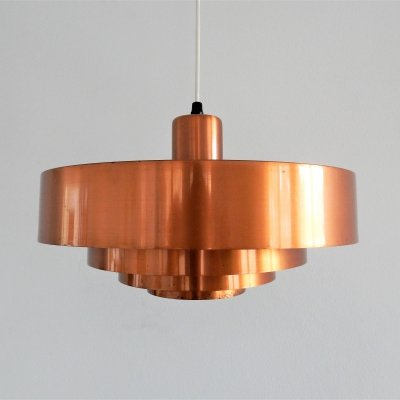 'Roulet' copper pendant lamp by Jo Hammerborg for Fog & Mørup, Denmark 1960's