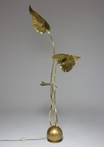 20th Century Rare Brass Floor Lamp by Tommaso Barbi, 1970's