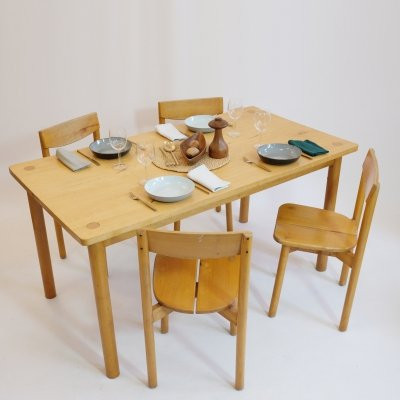 Table & 4 chairs by Pierre Gautier Delaye, 1950s