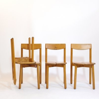 Set of 4 chairs by Pierre Gautier Delaye for Vergnères, 1950s