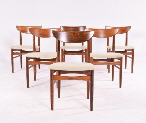 Mid Century Harry Ostergaard set of 6 Dining Chairs by Randers Mobelfabrik