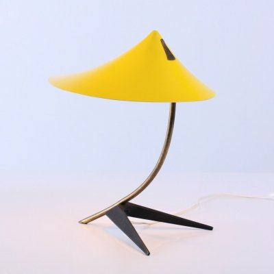 Fifties yellow table light by cosack