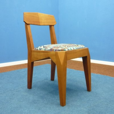 Anthroposophical Walnut Chair by Siegfried Pütz, 1920s