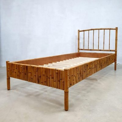 Vintage Tropical vibes bamboo daybed, 1960s