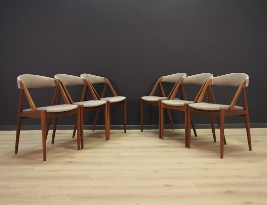 Set of 6 Kai Kristiansen dining chairs, 1960s
