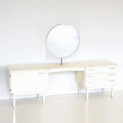 Large vintage white dressing table