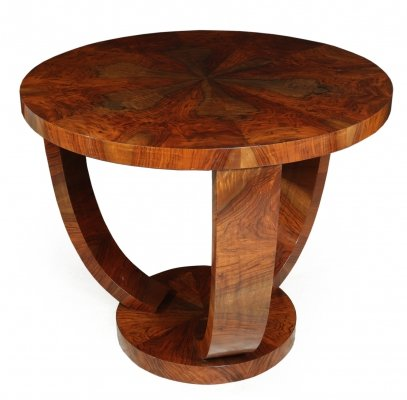 Art Deco Walnut Coffee Table, c1930