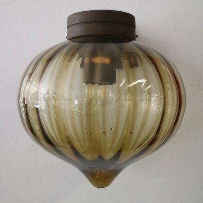 Raak design brown glass wall lamp