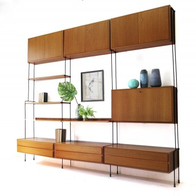 Large Mid-Century Modern Omnia Wall Unit by Hilker