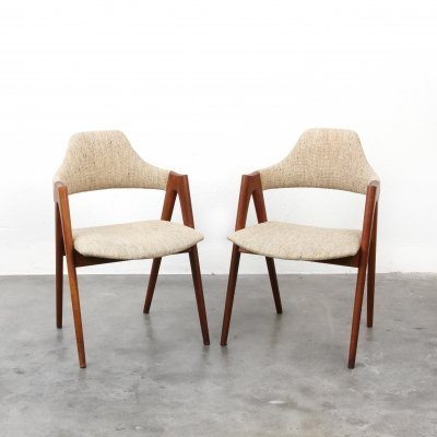 2 x Compass dining chair by Kai Kristiansen for Sva Møbler, 1950s
