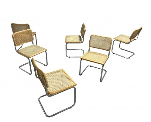 Vintage Marcel Breuer Cesca chairs, Italy 1970s