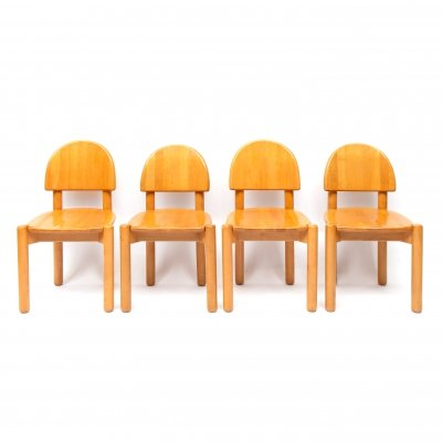 Set of four beech dining chairs by Rainer Daumiller, Denmark 1970s