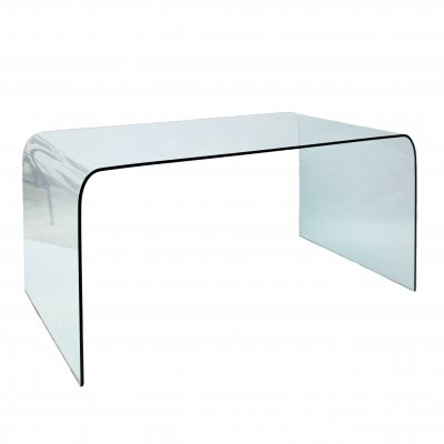 Italian glass desk / dining table by Angelo Cortesi, 1970s