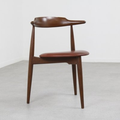 Heart dining chair by Hans Wegner for Fritz Hansen, 1950s