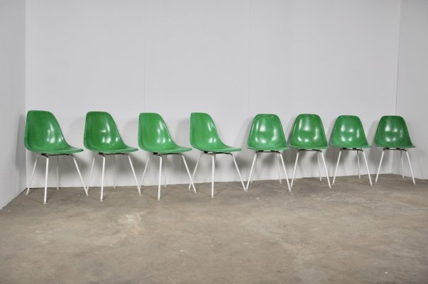 Set of 8 DSX Chairs by Charles & Ray Eames for Herman Miller,1960s