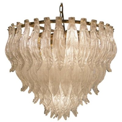 Large Murano Glass Leaf Chandelier