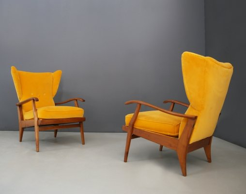 Pair of Mid century Italian armchairs by Camea, 1950s