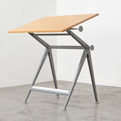 Friso Kramer & Wim Rietveld Drafting Table for Ahrend de Cirkel, 1963