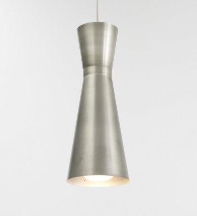 XL Diabolo lamp in stainless steel, 1960s