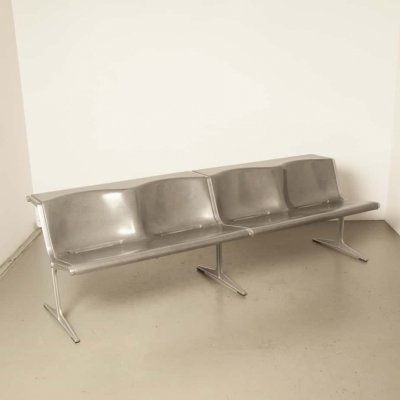 Olympic 4 seater bench by Friso Kramer for Wilkhahn