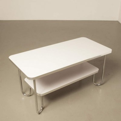 Modern Bauhaus style coffee table in white