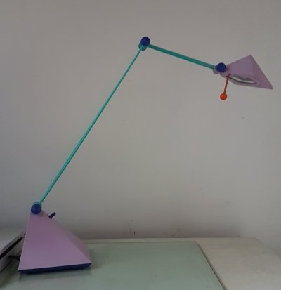 Memphis style desk lamp by Lungean & Pellman for Brilliance, Germany 1980