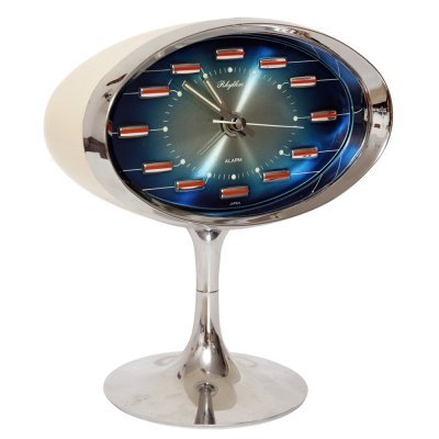 Space Age Japanese alarm clock by Rhythm, 1970s