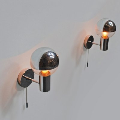 Pair of 1970s wall sconces by Motoko Ishii for Staff Leuchten