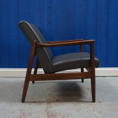 Edmund Homa Model GFM - 64 Easy Chair in Dark Grey, 1960's