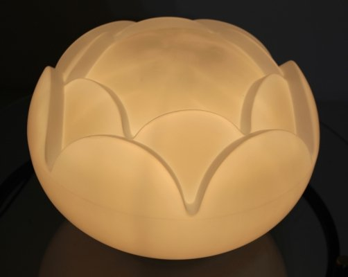 Seerose opaline glass table lamp by Peill & Putzler