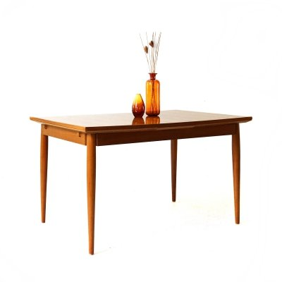 Extendible '60s Cherrywood Dining Table