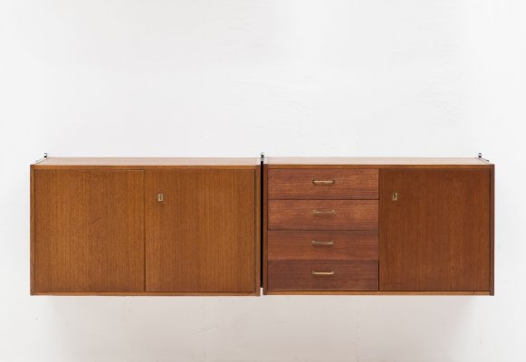 Wall unit by Ernst Hilker for Omnia, Germany 1950's