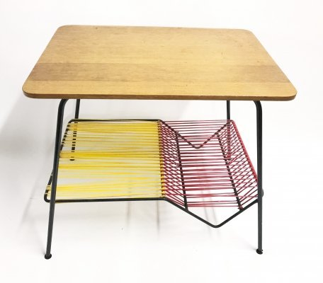 Vintage plastic cord side table, 1950s