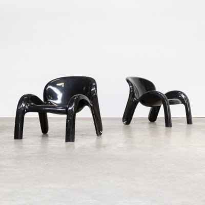 Pair of 'GN2' lounge chairs by Peter Ghyczy for Reuter's Form + Life collection