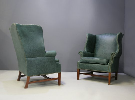 Pair of Wingback armchairs by Peter Hvidt & Orla Mølgaard Nielsen, 1940s
