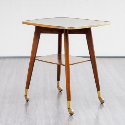 Cocktail side table with rotatable top, 1950s