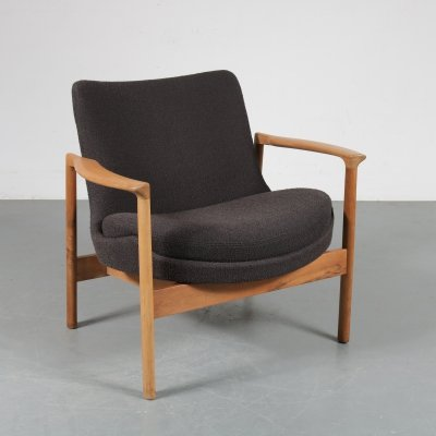 Danish lounge chair by Ib Kofod Larsen for Fröscher KG, Germany 1960s
