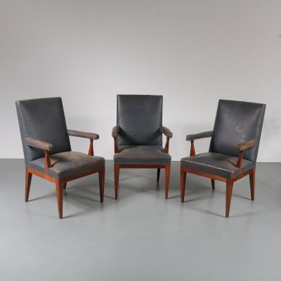 Rosewood conference/armchair by Theo Tempelman for Pander, 1950s