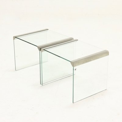Set of 2 Italian Design Side Tables by Gallotti & Radice, 1970's