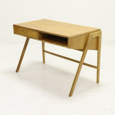 Birch Desk by Coen de Vries for Everest, Dutch Design 1950s