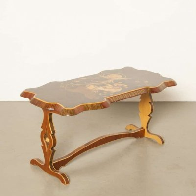 Inlaid 'The Firebird & Princess Vasilisa' coffee table