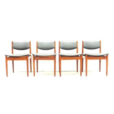 Set of 4 dining chairs by Finn Juhl, 1960s