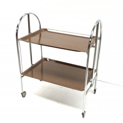 Foldable serving trolley from the 70s